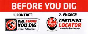 We are fully accredited by Dial-Before-You-Dig